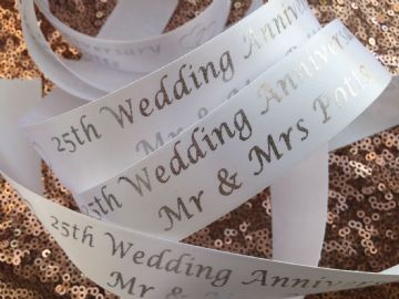 Personalised Wedding Anniversary  ribbon